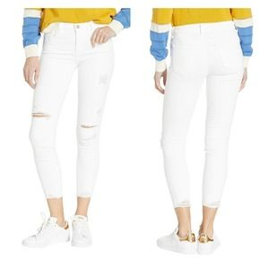 J Brand 835 mid rise cropped skinny jeans white 26